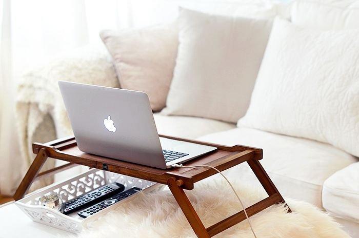 masă lemn laptop