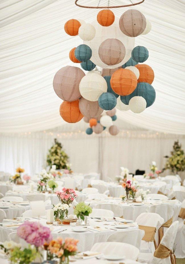 nuntă lampioane