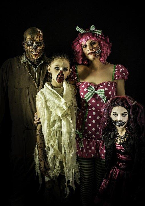 costume halloween familie